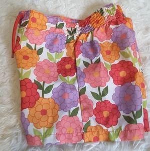 3/$15 Gymboree multi color floral board short sz 5